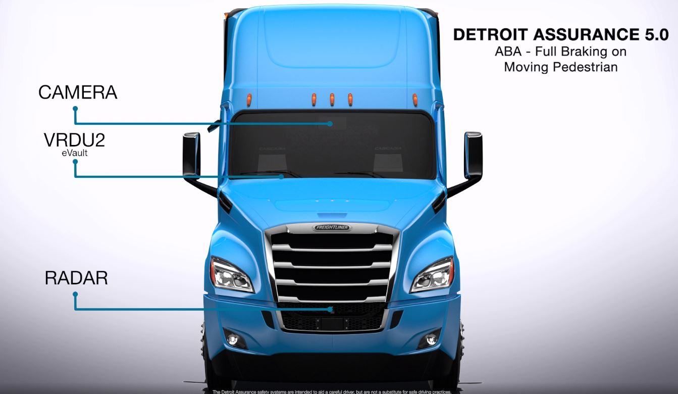 Detroit Assurance 5.0 ABA - Full Braking on Moving Pedestrian